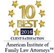 American Institute of Family Law Attorneys - 10 Best 2016