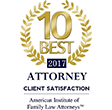 American Institute of Family Law Attorneys - 10 Best 2017
